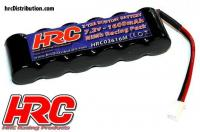 Battery - 6 cells - HRC 1600 - RC Car Micro - NiMH - 7.2V 1600mAh - Molex plug side by side
