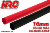 Shrink Tube - 10mm - Red and Black (1m each)