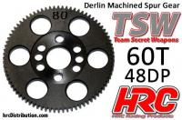 Spur Gear - 48DP - Low Friction Machined Delrin - TSW Pro Racing -  60T