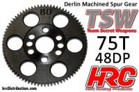 Spur Gear - 48DP - Low Friction Machined Delrin - TSW Pro Racing -  75T
