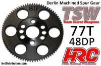 Spur Gear - 48DP - Low Friction Machined Delrin - TSW Pro Racing -  77T