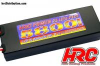 Battery - LiPo 2S - 7.4V 5800mAh 50C - RC Car - HRC Power 5800 - Hard Case - Ultra T Plug