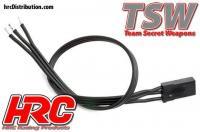 Cavo di Servo - TSW Pro Racing - JR tipo -  30cm Lungo - All-Black (Nero/Nero/Nero)