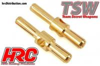 Connector - Gold - TSW Pro Racing - Dual - 4.0mm & 5.0mm - Male (2 pcs)