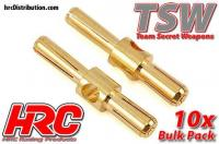 Connector - Gold - TSW Pro Racing - Dual - 4.0mm & 5.0mm - Male (10 pcs)