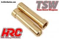 Connecter - Gold - TSW Pro Racing - Reducer tube - 5.0mm to 4.0mm (2 pcs)