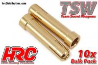 Connector - Gold - TSW Pro Racing - Reducer tube - 5.0mm to 4.0mm (10 pcs)