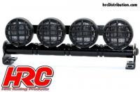 Set d'éclairage - 1/10 ou Monster Truck - LED - Prise JR - Barre de toit - Type B Blanc