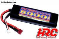 Battery - LiPo 2S - 7.4V 5000mAh 40C - RC Car - HRC 5000 - Rounded Hard Case - Ultra T Plug