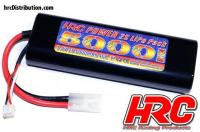 Battery - LiPo 2S - 7.4V 5000mAh 40C - RC Car - HRC 5000 - Rounded Hard Case - Tamiya Plug