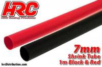 Shrink Tube -  7mm - Red and Black (1m each)