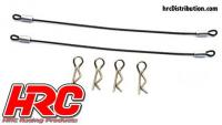 Body Clips - 1/10 - with 120mm Metal Cord (4 + 2 pcs)