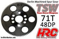 Spur Gear - 48DP - Low Friction Machined Delrin - TSW Pro Racing -  71T