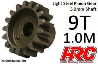 Pinion Gear - 1.0M / 5mm Shaft - Steel - Light -  9T