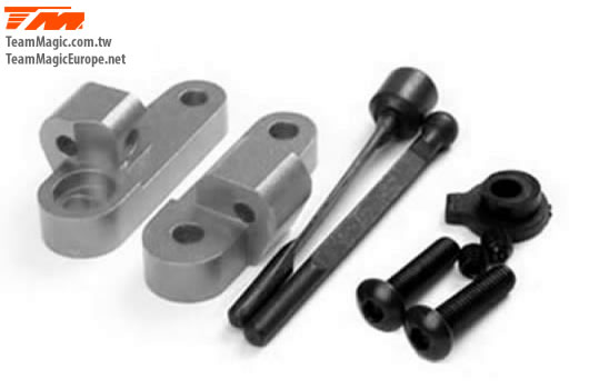 K Factory - K1407T - Option Part - G4 - Alum. Rear Anti-Roll Bar With Mounts Titanium