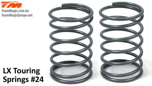 K Factory - K4901-24 - Shocks Springs - LX Touring - 1.3mm x 6.5 coils - 13x23.5mm #24