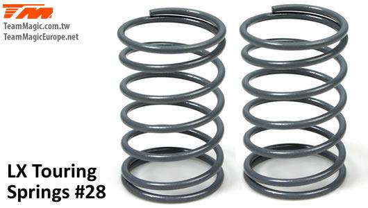 K Factory - K4901-28 - Shocks Springs - LX Touring - 1.5mm x 6 coils - 13x23.5mm #28