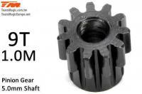 Pinion Gear - 1.0M / 5mm Shaft - Steel -  9T