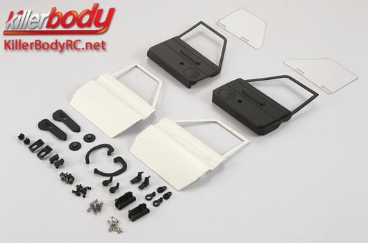 KillerBody - KBD48610 - Body Parts - 1/10 Crawler - Scale - Mov. Door Set ABS & Lexan for Toyota Land Cruiser 70