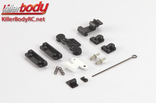 KillerBody - KBD48611 - Body Parts - 1/10 Crawler - Scale - Mov. Hood Set ABS for Toyota Land Cruiser 70