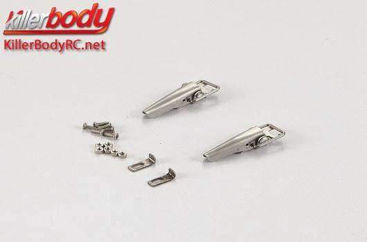 KillerBody - KBD48613 - Body Parts - 1/10 Crawler - Scale - Truck Bed Lock Catch Metal for Toyota Land Cruiser 70