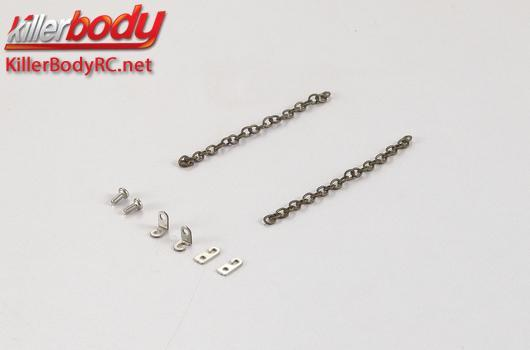 KillerBody - KBD48614 - Body Parts - 1/10 Crawler - Scale - Truck Bed Link Chain Metal for Toyota Land Cruiser 70