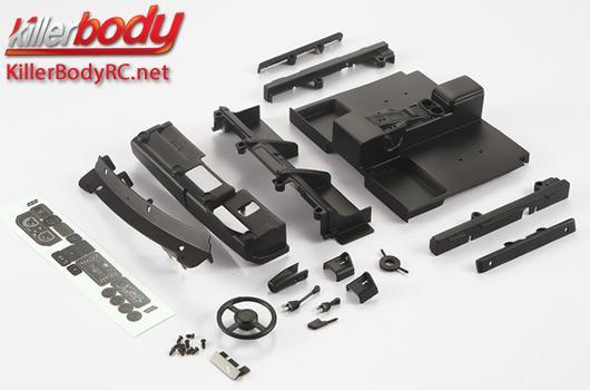KillerBody - KBD48615 - Body Parts - 1/10 Crawler - Scale - Cockpit Set Left ABS for Toyota Land Cruiser 70