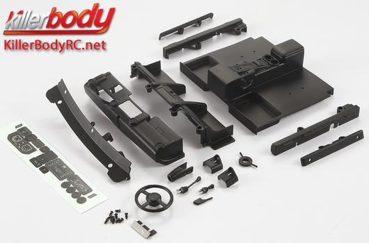KillerBody - KBD48616 - Body Parts - 1/10 Crawler - Scale - Cockpit Set Right ABS for Toyota Land Cruiser 70