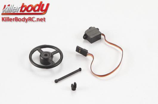 KillerBody - KBD48618 - Body Parts - 1/10 Crawler - Scale - Electric Steering Wheel for Toyota Land Cruiser 70