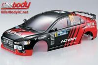 Body - 1/10 Touring / Drift - 190mm - Scale - Finished - Box - Mitsubishi Lancer Evolution X - Racing