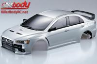 Body - 1/10 Touring / Drift - 190mm - Scale - Finished - Box - Mitsubishi Lancer Evolution X - Silver