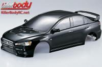 Body - 1/10 Touring / Drift - 190mm - Scale - Finished - Box - Mitsubishi Lancer Evolution X - Black