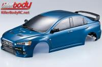 Body - 1/10 Touring / Drift - 190mm - Scale - Finished - Box - Mitsubishi Lancer Evolution X - Metallic Blue