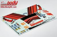 Stickers - 1/10 Touring - Scale - Mitsubishi Lancer Evolution X - Racing