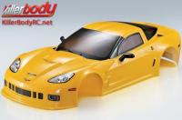 Body - 1/10 Touring / Drift - 190mm - Scale - Finished - Box - Corvette GT2 - Yellow