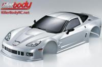 Body - 1/10 Touring / Drift - 190mm - Scale - Finished - Box - Corvette GT2 - Silver