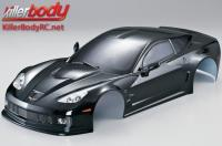 Body - 1/10 Touring / Drift - 190mm - Scale - Finished - Box - Corvette GT2 - Black