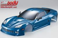 Body - 1/10 Touring / Drift - 190mm - Scale - Finished - Box - Corvette GT2 - Metallic Blue