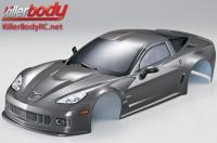 Body - 1/10 Touring / Drift - 190mm - Scale - Finished - Box - Corvette GT2 - Gunmetal