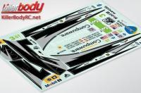 Stickers - 1/10 Touring - Scale - Corvette GT2