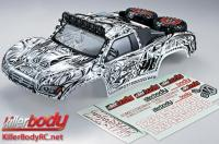 Body - 1/10 Short Course - Scale - Finished - Box - Monster - Tattoo Graphics - fits Traxxas / HPI / Associated Short Course Trucks
