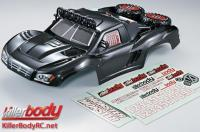 Body - 1/10 Short Course - Scale - Finished - Box - Monster - Carbon Fiber Graphics - fits Traxxas / HPI / Associated Short Course Trucks
