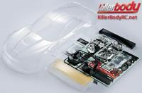 Body - 1/7 Touring - Traxxas XO-1 - Scale - Clear - Corvette GT2