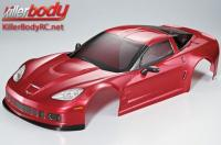 Body - 1/7 Touring - Traxxas XO-1 - Scale - Finished - Box - Corvette GT2 - Dark Metallic Red