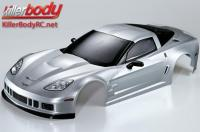 Body - 1/7 Touring - Traxxas XO-1 - Scale - Finished - Box - Corvette GT2 - Silver