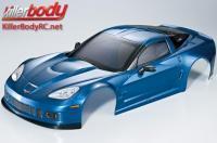 Body - 1/7 Touring - Traxxas XO-1 - Scale - Finished - Box - Corvette GT2 - Dark Metallic Blue