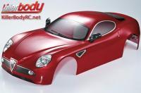 Body - 1/7 Touring - Traxxas XO-1 - Scale - Finished - Box - Alfa Romeo 8C - Dark Metallic Red