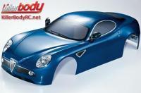 Body - 1/7 Touring - Traxxas XO-1 - Scale - Finished - Box - Alfa Romeo 8C - Dark Metallic Blue