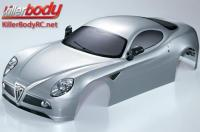 Body - 1/7 Touring - Traxxas XO-1 - Scale - Finished - Box - Alfa Romeo 8C - Silver