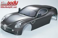 Body - 1/7 Touring - Traxxas XO-1 - Scale - Finished - Box - Alfa Romeo 8C - Gunmetal